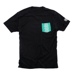 100% Mens Conifer Cotton Blend Graphic T-Shirt Black