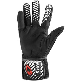 EVS Mens Wrap Textile Gloves Black