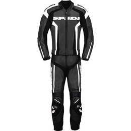 Black, White Spidi Sport Rr Touring Two Piece Leather Suit Black White Us 36 Eu 46