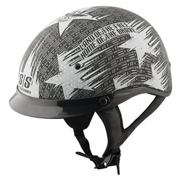 Black, Silver Speed & Strength Ss300 Stars & Stripes Half Helmet 2013 Black Silver