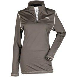 Divas Women Divas Tech Subpolar Base Layer Long Sleeve 1/4 Zip Shirt Black