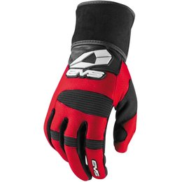 EVS Mens Wrap Textile Gloves Red