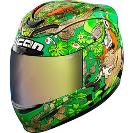 Icon Airmada LeprIcon Full Face Helmet Green