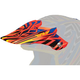 Orange, Blue, Yellow Fly Racing Replacement Visor F F2 Carbon Andrew Short Sign Helmet Org Blue Ylw