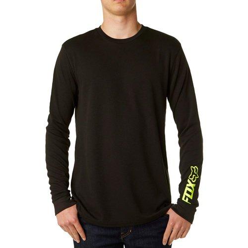 Fox racing mens scraper active long sleeve thermal for Mens black thermal t shirts