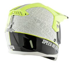 Hi-vis Yellow Speed & Strength Ss2500 Hell 'n Back Full Face Helmet