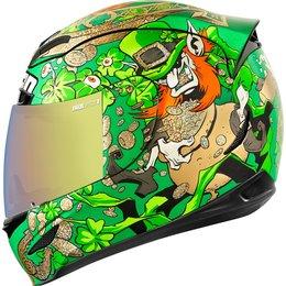 Icon Airmada LeprIcon Full Face Helmet Green