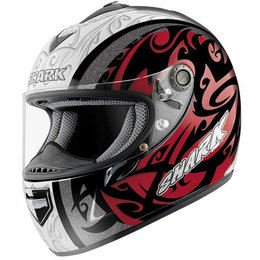Black, Red Shark Rsx Intense Full Face Helmet Ls Black Red