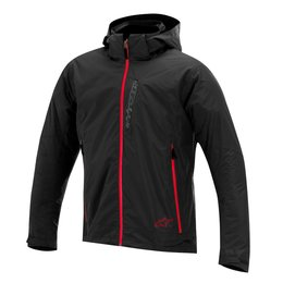 Black, Mandarin Red Alpinestars Mens Scion 2 Layer Waterproof Jacket 2014 Black Mandarin Red