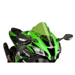 Puig Racing Windscreen Double Height 3mm Green For Kawasaki Ninja ZX-10R 2016 Green