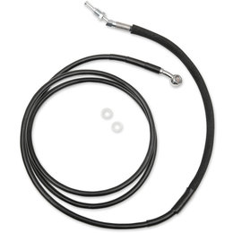 Drag Specialties Hydraulic Clutch Line +8 Inch For Harley Black 0661-0044 Black