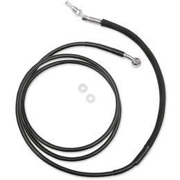 Drag Specialties Hydraulic Clutch Line +8 Inch For Harley Black 0661-0044 Black