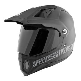Matte Black Speed & Strength Ss2500 Hell 'n Back Full Face Helmet