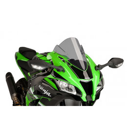 Puig Racing Windscreen Double Height Acrylic 3mm Smoke For Kawasaki ZX-10R 2016 Grey