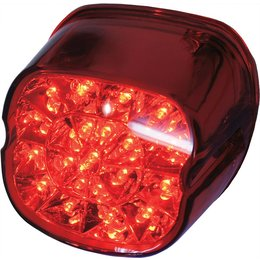 HardDrive Laydown LED Tail Light With Red Lens For Harley-Davidson L24-0433DRLED Red