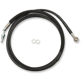 Drag Specialties Hydraulic Clutch Line +10 Inch For Harley Black 0661-0046 Black