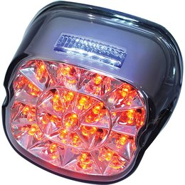 HardDrive Laydown LED Tail Light With Smoke Lens For Harley L24-0433MLED Smoke