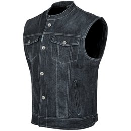 Speed & Strength Mens Soul Shaker Armored Denim Vest Black