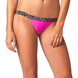Fox Racing Womens Vapor Skinny Elastic Waistband Bikini Bottom Pink