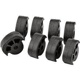 HardDrive Replacement Rubber Inserts For Rider Footpegs 8 Pack Black For Harley