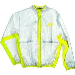 Fox Racing MX Fluid Waterproof Motorsports Riding Jacket Transparent