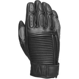 RSD Mens Dezel Leather Riding Gloves Black