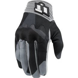 Icon Mens Anthem Deployed Touchscreen Capable Mesh Riding Gloves Grey