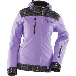 Purple Divas Womens Lace Collection Textile Snow Jacket 2014