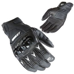 Black, White Joe Rocket Superstock Leather Gloves Black White S
