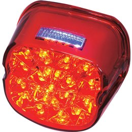 HardDrive Laydown LED Tail Light With Red Lens For Harley L24-0433RLED Red