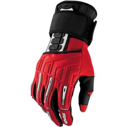 EVS Mens Wrister Textile Gloves Red