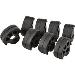 HardDrive Replacement Rubber Inserts For Passenger Footpegs 8 Pk Blk For Harley