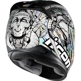 Icon Airmada Mechanica Full Face Helmet Silver