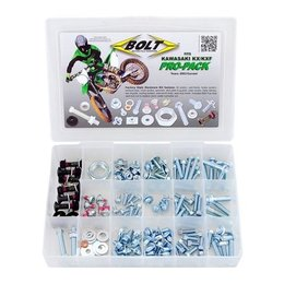 Bolt MC Pro-Pack Factory Style Hardware Kit Steel For Kawasaki KX65 KX85 Unpainted