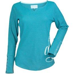 Divas Womens Long Sleeve Thermal Shirt Blue
