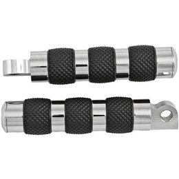 HardDrive NoVibe Comfort Rider Footpegs Pair Chrome For Harley-Davidson