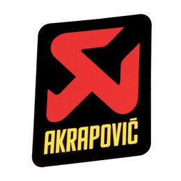 Black Akrapovic Vert 75 120mm X 34.5mm Decal Sticker Ls Each