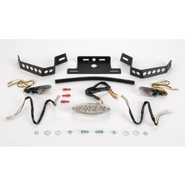 Black Mount/clear Lens Targa Tail Kit With Signals Black For Kawasaki Zx-6r 07-08