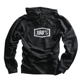 100% Mens Corpo Heavy-Duty Thermal Pullover Hoody Black