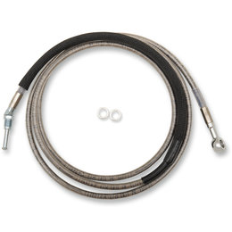 Drag Specialties Hydraulic Clutch Line +10 Inch For Harley 0661-0059 Unpainted