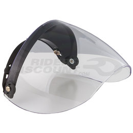 MXL Industries CL CS FG Anti-Fog 3 Snap Flip Shield For Open Face Helmet