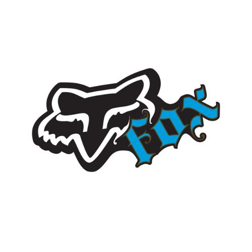 Black Fox Racing Switch Sticker Decal 4 Inch Blue