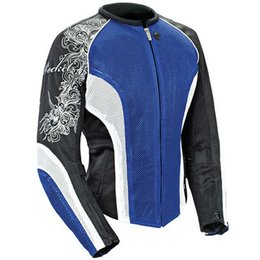 Blue, Black, White Joe Rocket Womens Cleo 2.2 Textile Jacket Blue Black White