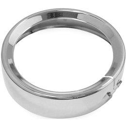 Biker's Choice 7 Inch Headlight Trim Ring Chrome 160340 Unpainted
