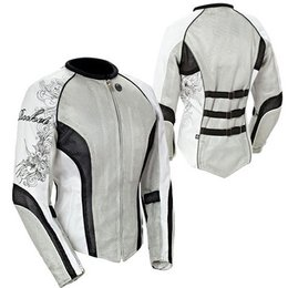 Silver, White, Black Joe Rocket Womens Cleo 2.2 Textile Jacket Silver White Black
