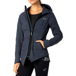 Fox Racing Womens Hailstorm Water-Resistant DWR Coated Cold Weather Jacket Black