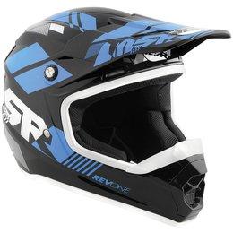 Black, Cyan Msr Boys Revone Rev-1 Helix Helmet 2015 Black Cyan