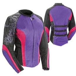 Purple, Pink, Black Joe Rocket Womens Cleo 2.2 Textile Jacket Purple Pink Black