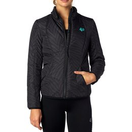 Fox Racing Womens Sonar Slim Cut Water-Resistant Jacket Black