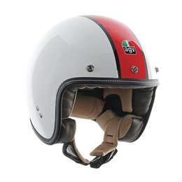 AGV RP 60 B4 Deluxe Flag Open Face Helmet White